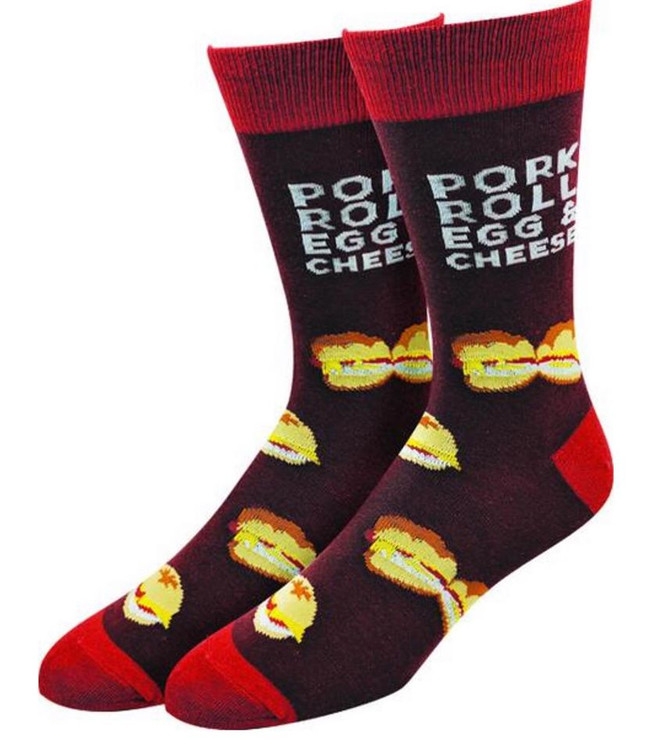 Pork Roll Socks Fits Men's & Women's Shoe Sizes 6-12  75% Cotton / 22% Polyester / 3% Spandex