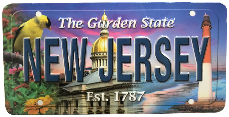 Magnet / Metal License Plate - New Jersey Montage