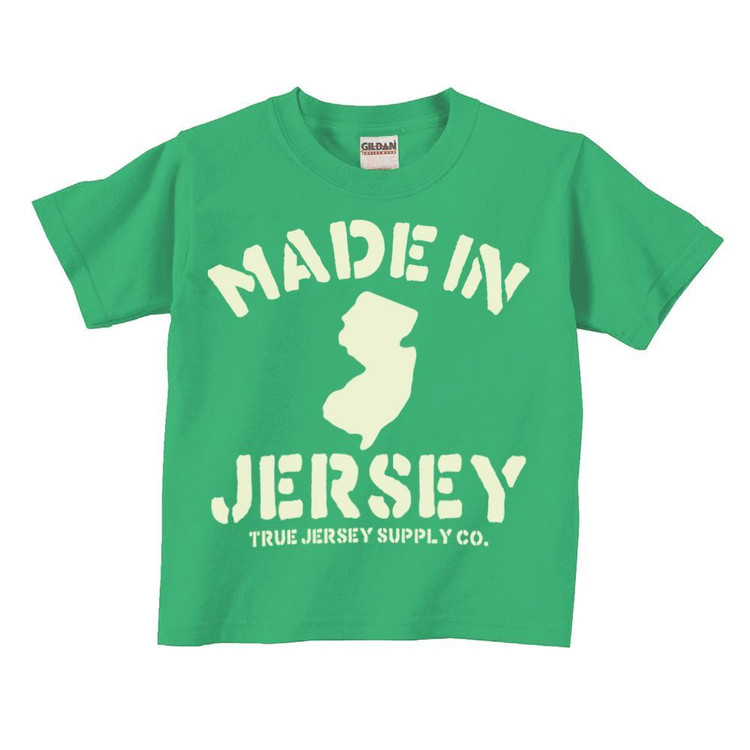 Jersey makes all the best things.  Made from pre-shrunk cotton and fitted like a standard toddler/youth band tee for a comfortable loose fit.