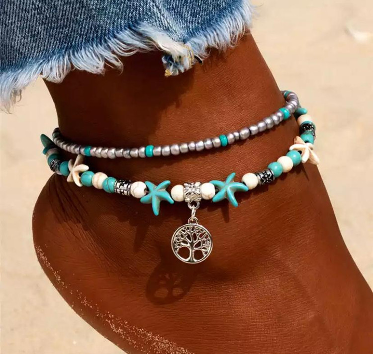 Starfish Tree Of Life Anklet