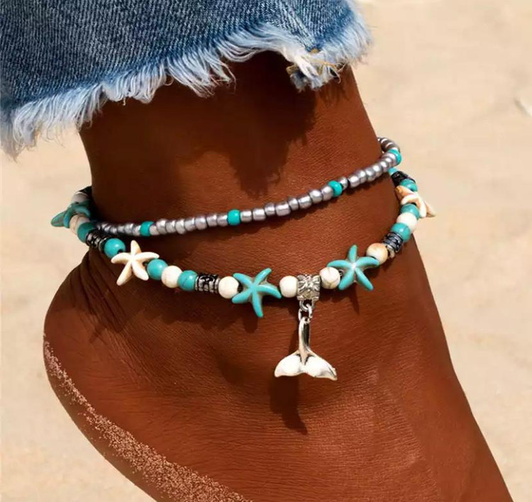 Starfish Mermaid Tail Anklet