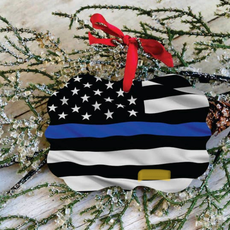 Police Blue Lives Matter Ornament