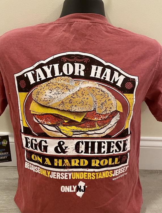 100% Cotton Heavyweight T-Shirt with High Quality Silkscreened image for North Jersey where it is called Taylor Ham!