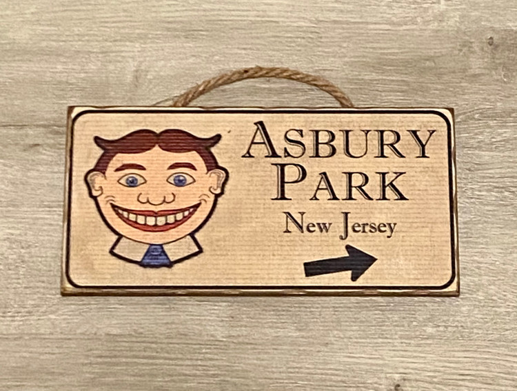 Tillie Asbury Park Wood Sign