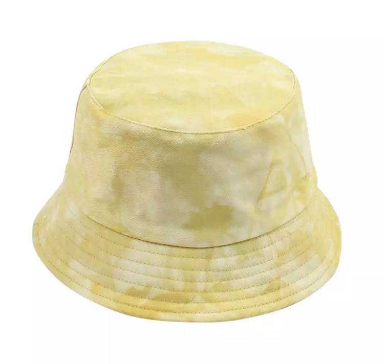 Tie Dye Yellow Bucket Hat
