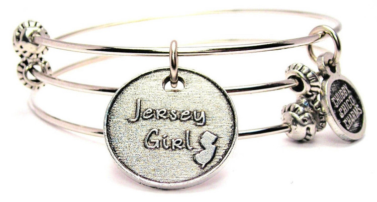 Each bangle is single, but gives the illusion of three.   100% American pewter charm and is expandable from 7 inches - 8 inches making it one size fits all.