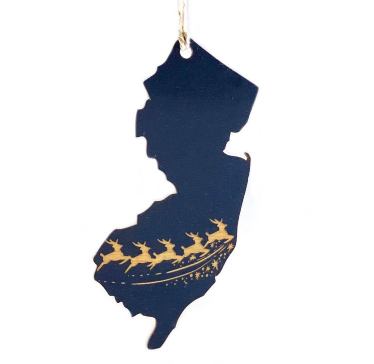 New Jersey Reindeer Ornament