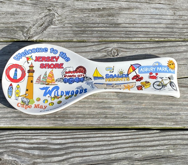 Welcome To The Jersey Shore Ceramic Spoon Rest