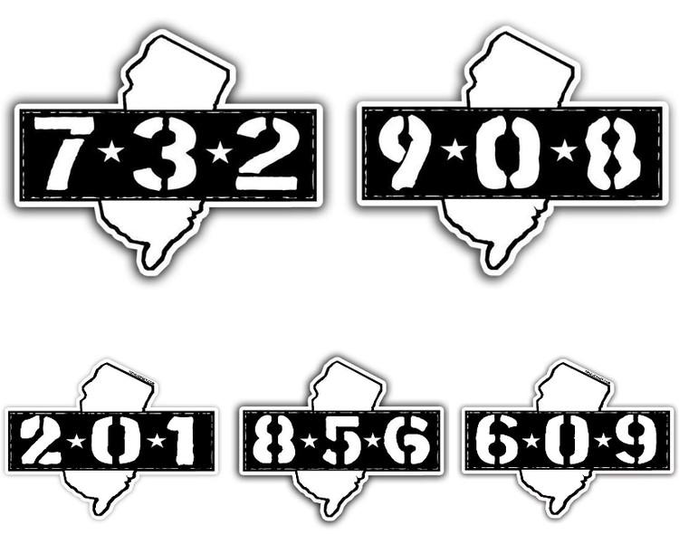 Area Code Sticker