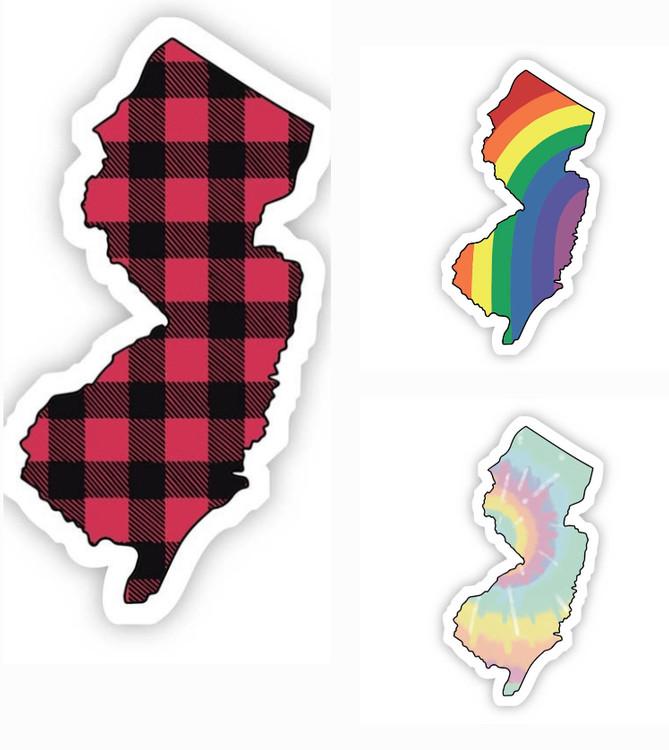"""NJ Stickers (Small) 2"""" x 3.5"""""""