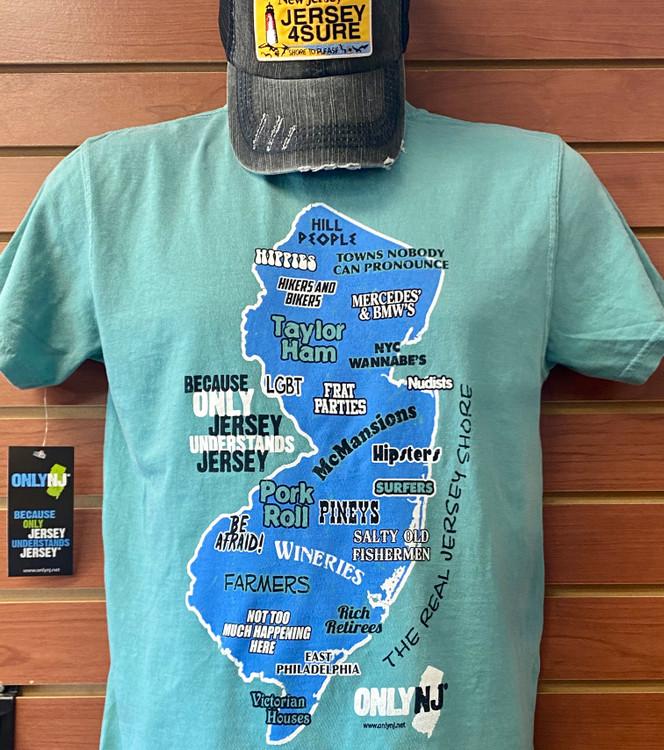 NJ Map T-Shirt