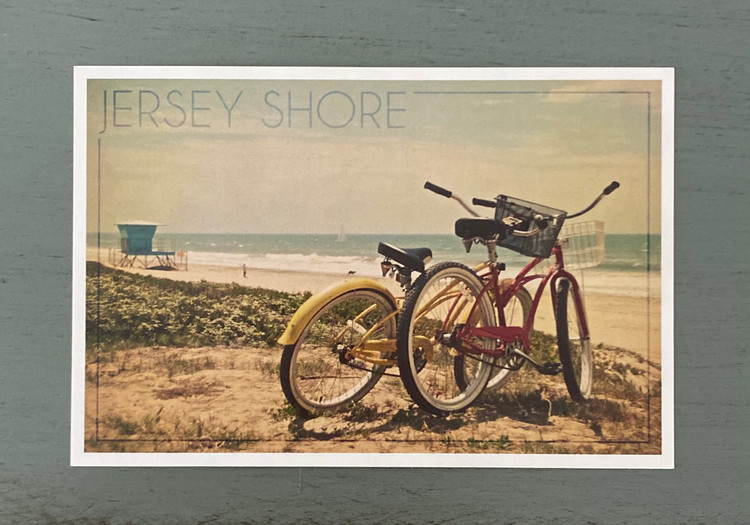 Jersey Shore Beach Bicycles Post Card