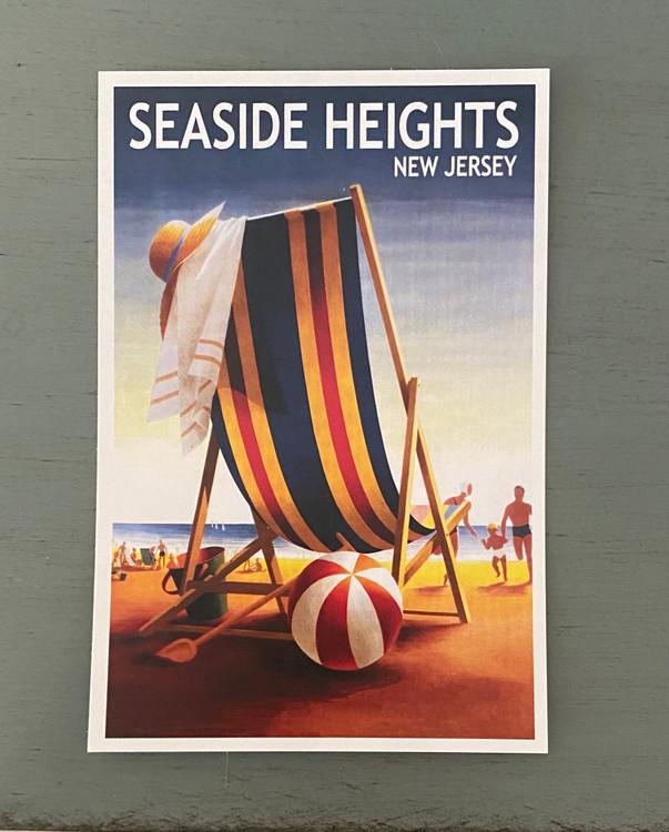 Seaside Heights Beach Chair - Post Card