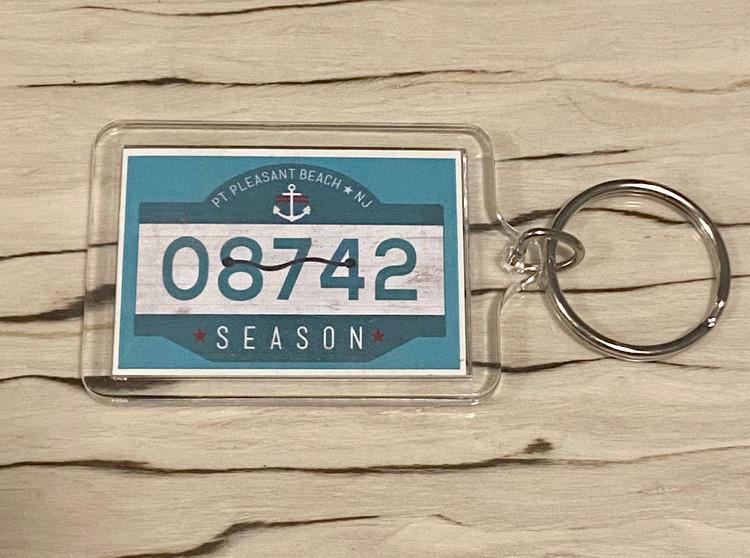 Point Pleasant Beach Badge Keychain