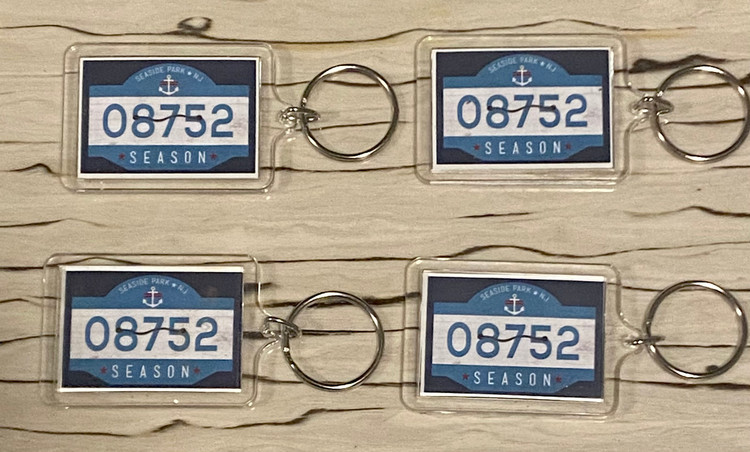 Seaside Park Beach Badge Keychain