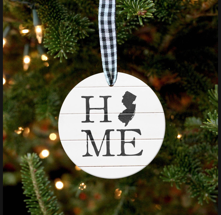 NEW JERSEY HOME PORCELAIN ORNAMENT