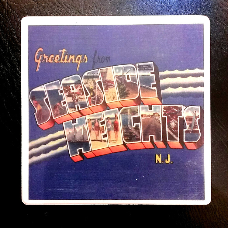 Seaside Heights Greetings Stone Coaster