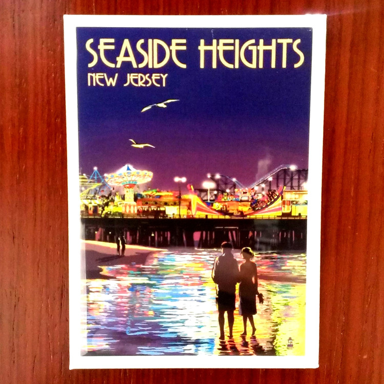 Seaside Heights Night View Magnet