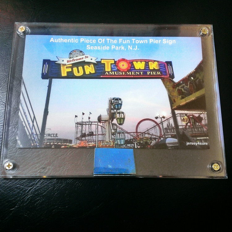 Authentic FunTown Sign Encased Memorabilia *Collectors Item*