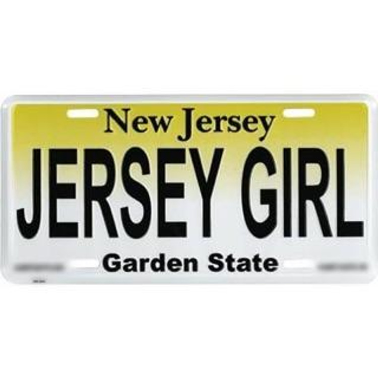 Jersey Girl Standard Car Size License Plate