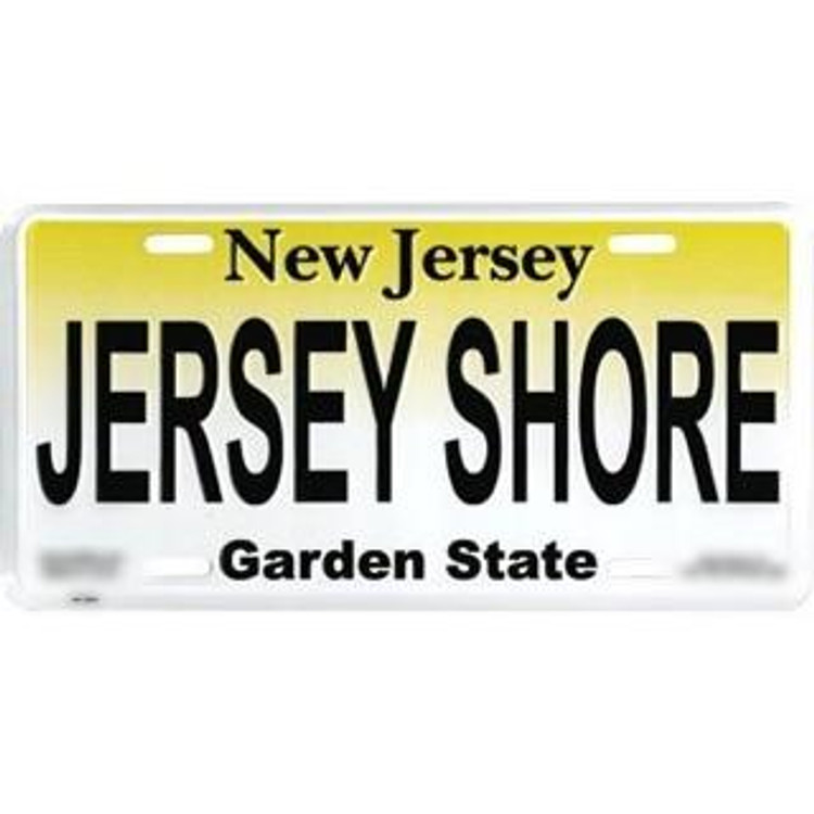 Jersey Shore Standard Car Size License Plate