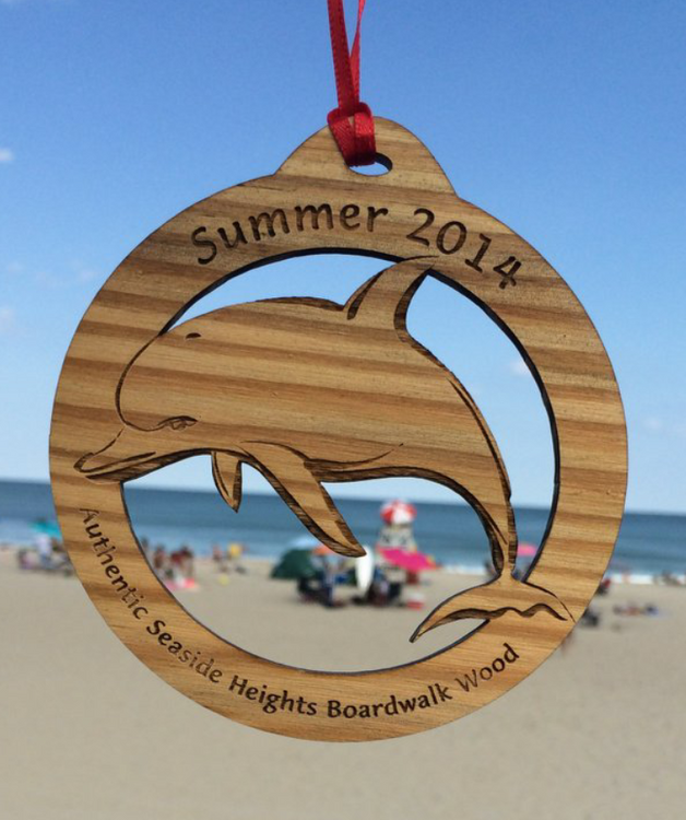 """Summer 2014 Seaside Heights Dolphin Ornament 4"""""""