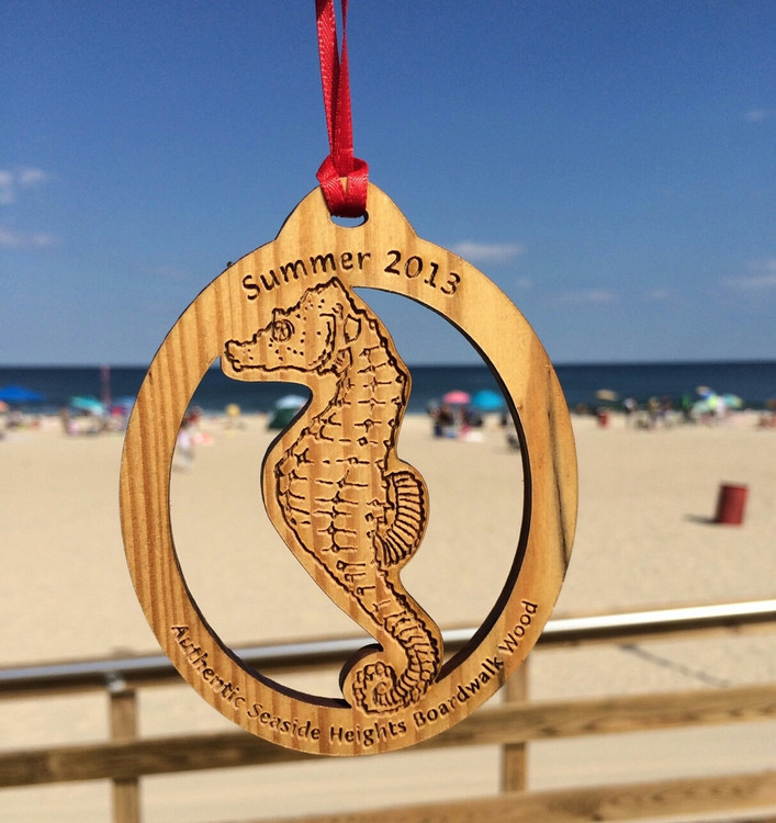 "Summer 2013 Seaside Heights Sea Horse Ornament 4"""