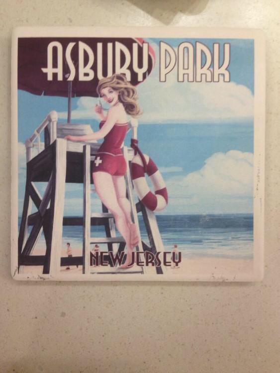 Asbury Park NJ Stone Coaster