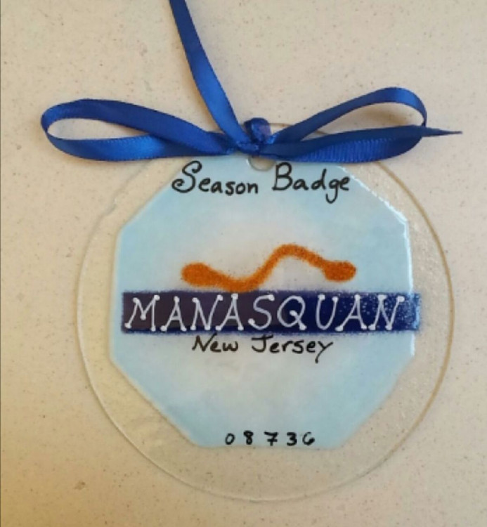 Manasquan Badge Handmade Ornament/Sun Catcher