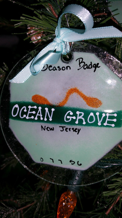 Ocean Grove Badge Handmade Ornament/Sun Catcher