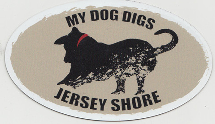 My Dog Digs Jersey Shore Auto Magnet