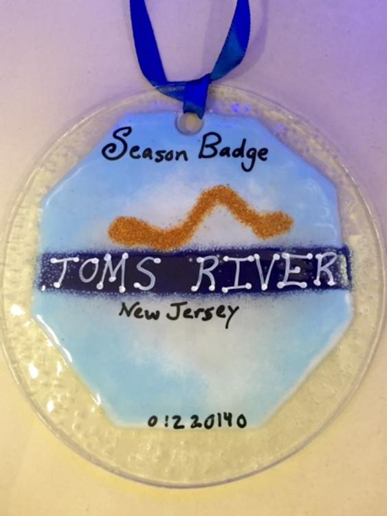 Toms River Badge Handmade Ornament/Sun Catcher