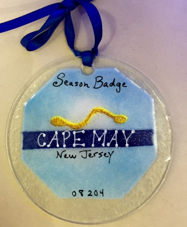 Cape May Badge Handmade Ornament/Sun Catcher