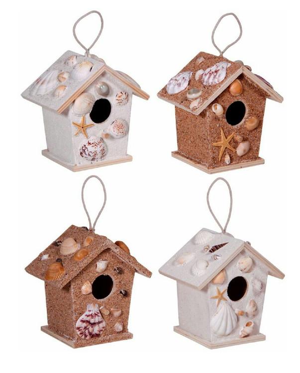 Handmade Sea Shell Birdhouse