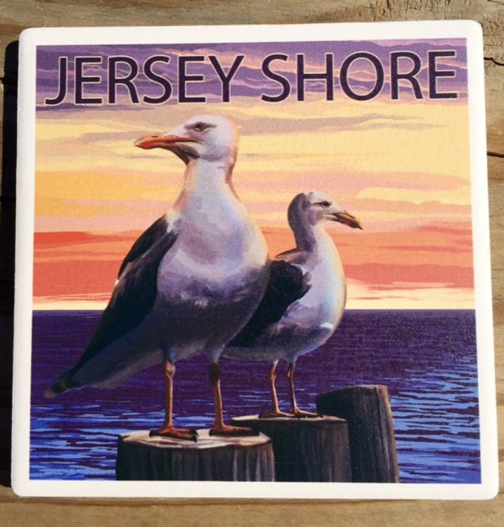 Jersey Shore Seagull Stone Coaster