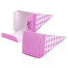 Gingham Cone Pink Favour Box (1)