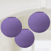 Round Paper Lantern Dark Purple (3)