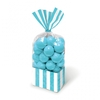 Candy Buffet Striped Party Bags Caribbean Blue