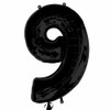 Number 9 Foil Balloon Black