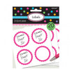 Candy Buffet Scalloped Labels Bright Pink (20)