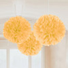 Gold Fluffy Tissue Paper Decorations (3)