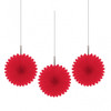 Mini Red Hanging Fan Decorations (3)