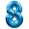 Number 8 Foil Balloon Blue