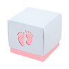 Baby Feet Pink Favour box (10)