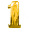 Number 1 Large Foil Balloon  Gold (34in)