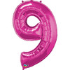 Number 9 Foil Balloon Pink
