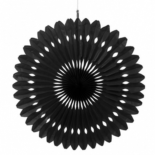 Paper Black Hanging Fan Decoration (1)