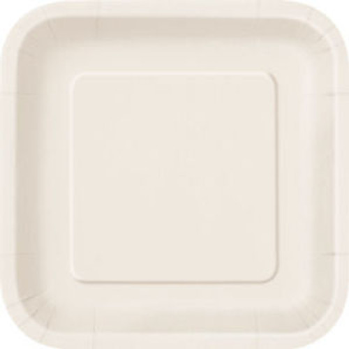 Ivory Square Paper Plates (14)