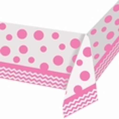 Chevron Candy Pink Tablecover (52in x 102in)