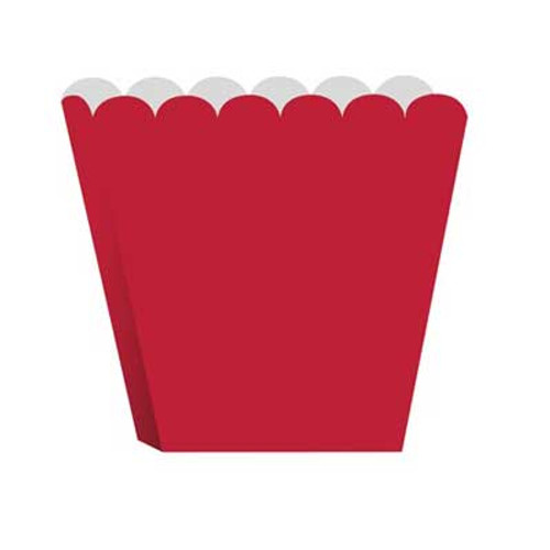 Red Scalloped treat boxes (8)